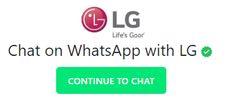 lg customer care whatsapp number