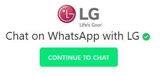 lg customer care whatsapp number