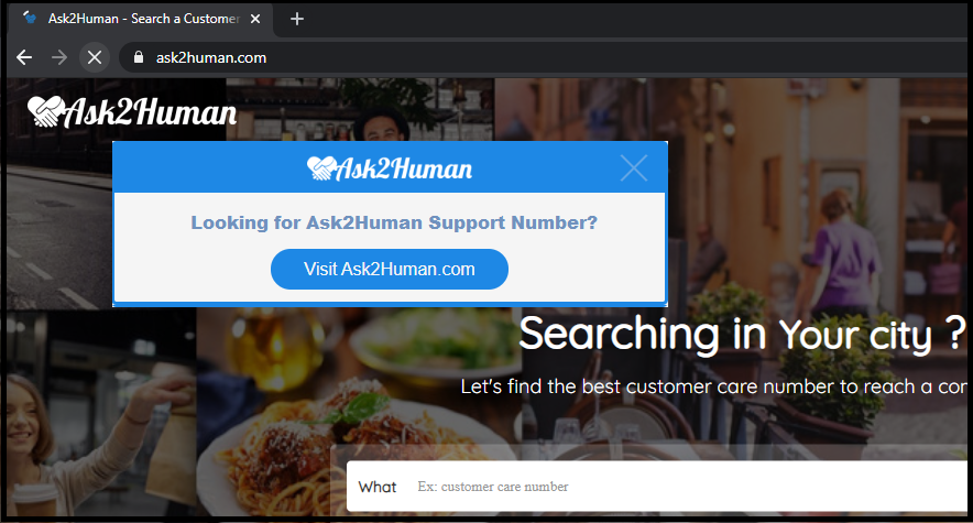 Ask2Human Google Chrome Web Store Extension